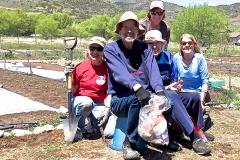 Gardening help at Community Gardens