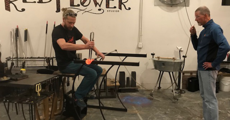 Glass Blowing at Red Flower